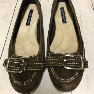 Tommy Hilfiger Brown Buckle Suede Leather Shoe